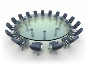 Custom Circle Glass Conference Table