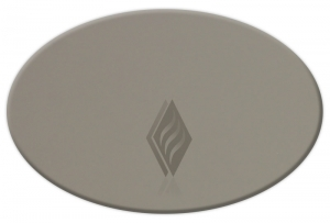 Bronze Elliptical Oval Annealed Glass